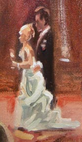Couple Detail - Wedding Painter - Sam Day
