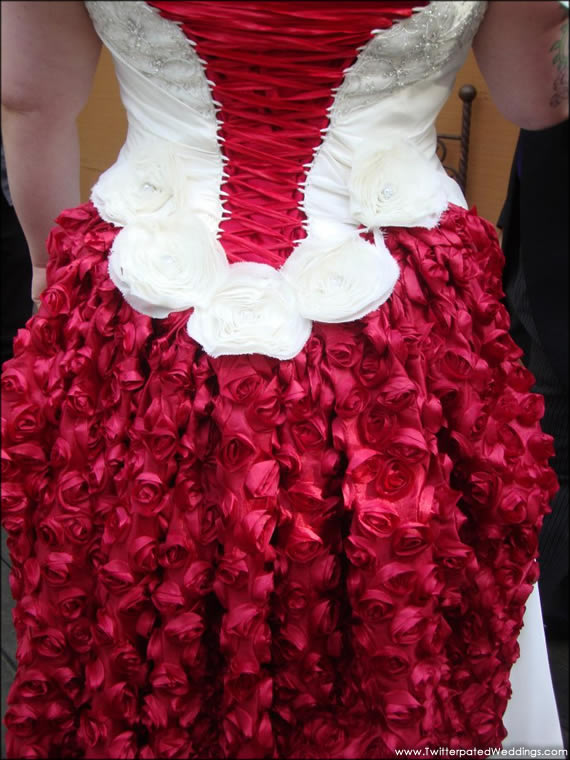 Wedding DJ - Amazing Rose Petal Wedding Dress