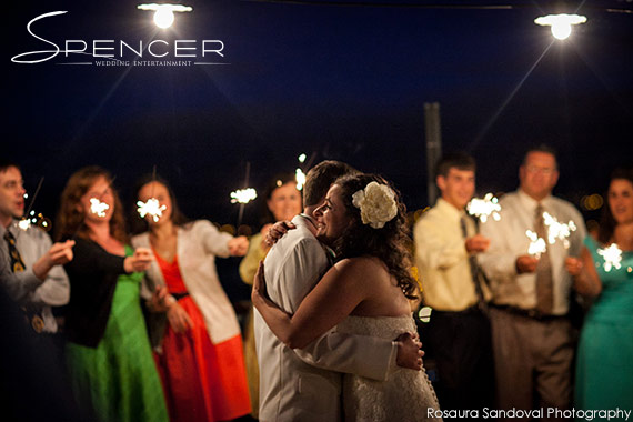 Wedding Sparkler First Dance at Bella Montagna Estate in San Jose