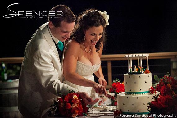 LEGO Wedding Cake Topper at Bella Montagna Estate in San Jose