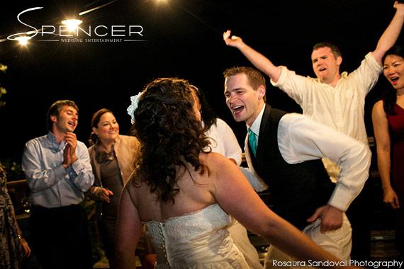 Dancing at Bella Montagna Estate in San Jose