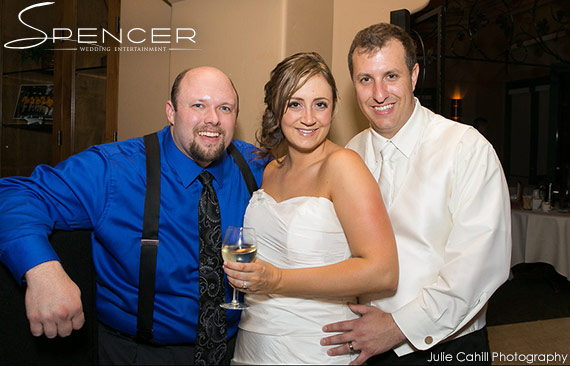 Wedding DJ Bridges Golf Club - Jason with Bride and Groom