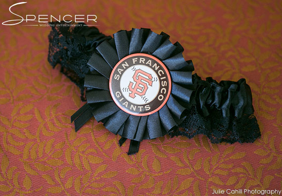 Wedding DJ Bridges Golf Club - SF Giants Wedding Garter